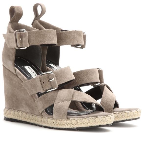 0b179dcafd42 Balenciaga Shoes - Balenciaga Suede Espadrille Wedge Sandal